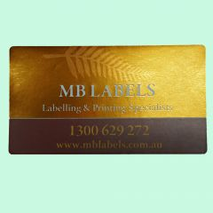 Gold Foiled Labels and Stickers